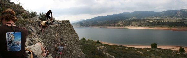 Rock Climbing Photo: Horsetooth Hang, '08 back in the Neptune's days