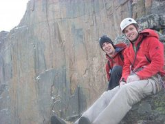 Rock Climbing Photo: Top of the Red Wall, Long's peak, Oct 1st 2008