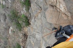 Rock Climbing Photo: Nearing the anchor of this classic..