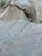 Rock Climbing Photo: nearing the anchors..