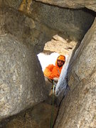 Rock Climbing Photo: Tight, even for a skinny lad like me!