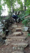 Rock Climbing Photo: Trail steps