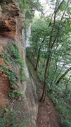 Rock Climbing Photo: Looking east from lower wooden platform