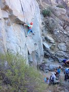 Rock Climbing Photo: Paige 8 years old cracking some moves on Circus Mi...