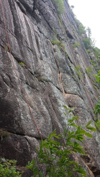 Rock Climbing Photo: The start of the route. This will serve as the bot...