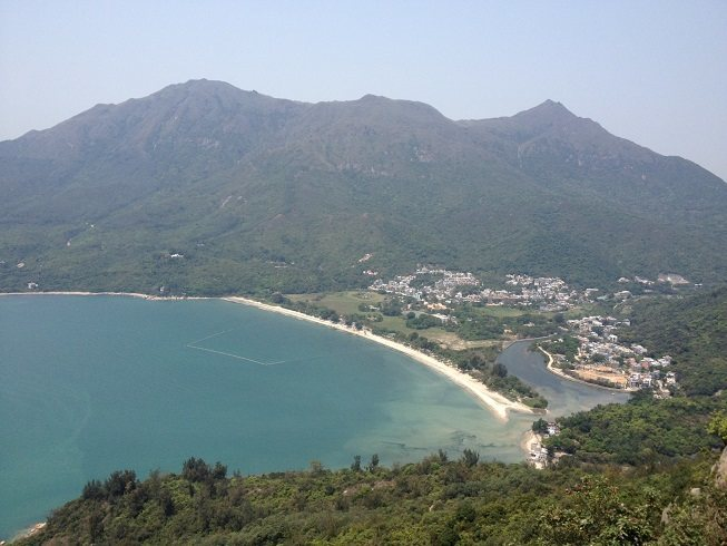 View of Pui O beach from summit