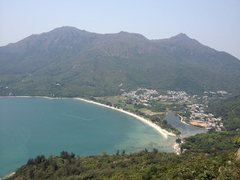 Rock Climbing Photo: View of Pui O beach from summit