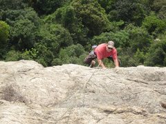 Rock Climbing Photo: Upper section of Via Etrusca.  Photo by Jack Marr.