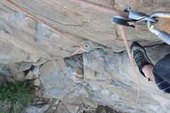 Rock Climbing Photo: Having fun working my way up the 1st part of the c...