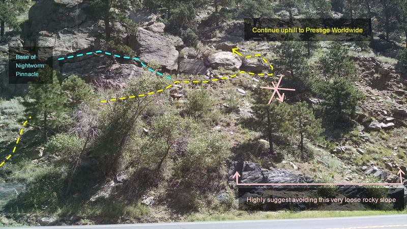 Approach trail, near Nightworm Pinnacle.
