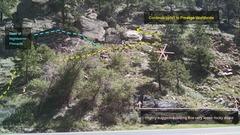 Rock Climbing Photo: Approach trail, near Nightworm Pinnacle.
