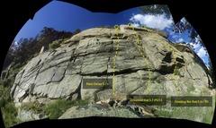 Rock Climbing Photo: Left side of Prestige Worldwide Crag.