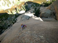 Rock Climbing Photo: I think this is the pitch above the cruxes. Eric J...