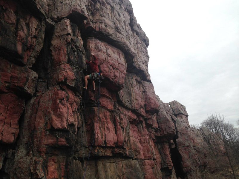 Rock Climbing Photo: JL onsighting