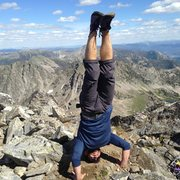 Rock Climbing Photo: Headstand on top of Beehive Mountain.
