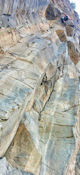 Rock Climbing Photo: Matt in the crux during the send!