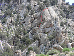 Rock Climbing Photo: Merlin Monroe formation and Dread Not line.,