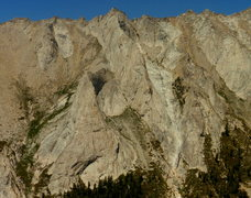 Rock Climbing Photo: The Prism and Saber Ridge viewed from Cherubim Dom...
