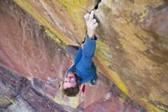 Rock Climbing Photo: Pat Kingsbury pulling FYP on a cool summer morning...