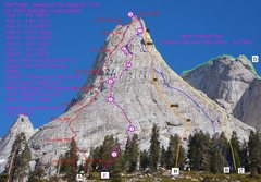 Rock Climbing Photo: Outline of the routes
