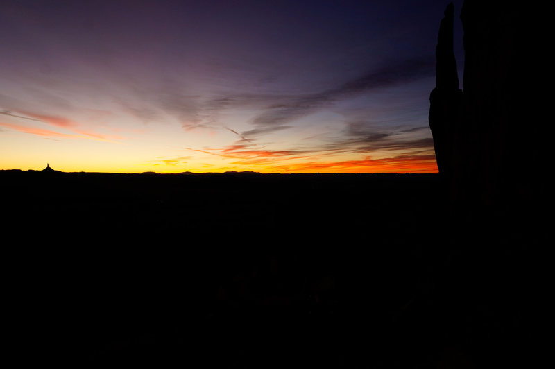 Schoolmaster at sunset