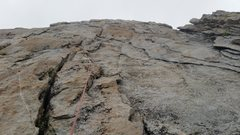 Rock Climbing Photo: Rock on the route. Mostly face and crack climbing....