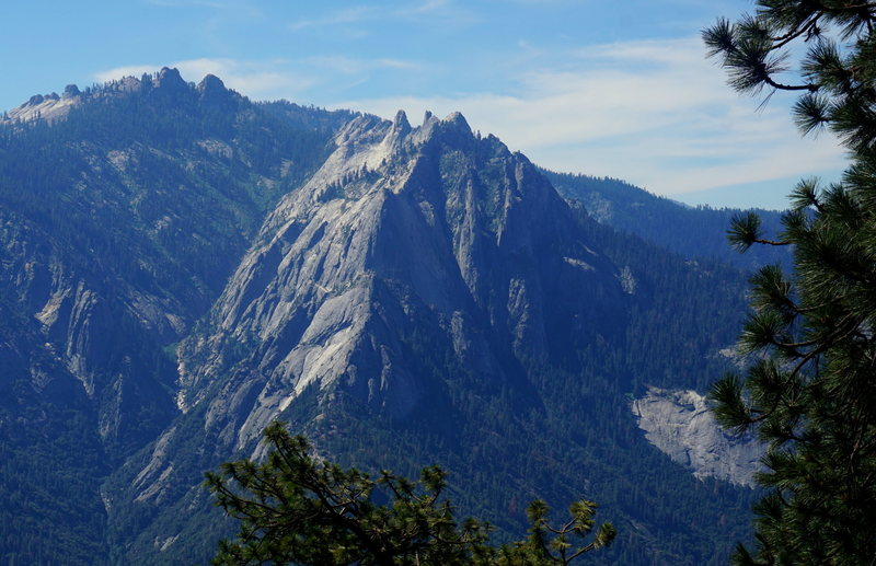 View of Castle Rocks from the approach trail - High Sierra Trail