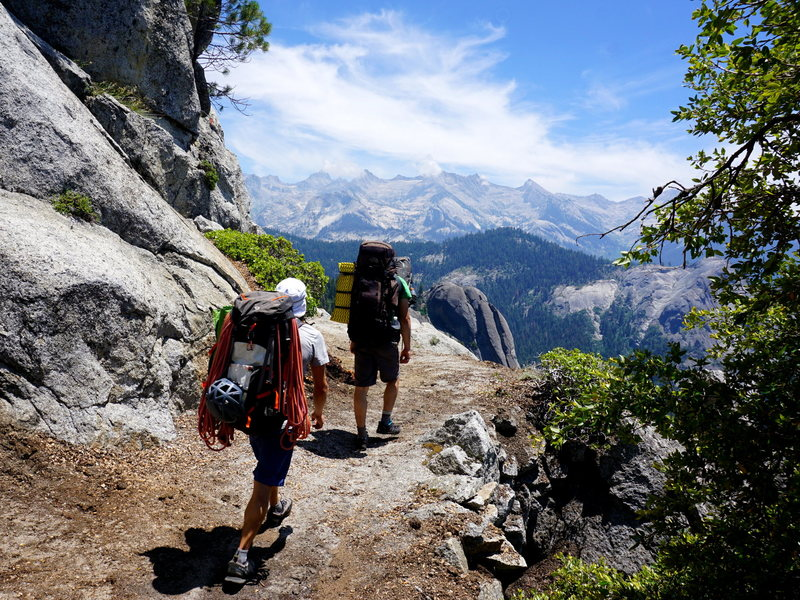 The approach via the High Sierra Trail. Scenic and on a very good trail.