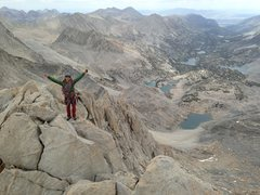 Rock Climbing Photo: Picture of Ross taken from the summit block. Great...