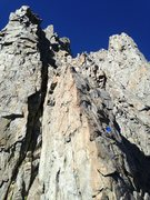 Rock Climbing Photo: Ross going up one of the better pitches of Venusia...