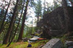 Rock Climbing Photo: The ATAT boulder.