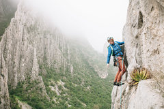 Rock Climbing Photo: Leading out on P2 of Estrelitta, El Potrero Chico,...
