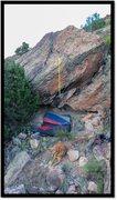 Rock Climbing Photo: Present In The Future Past problem beta.