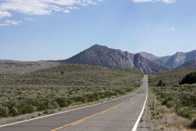 The northern portion of the June Lake Loop, June Lake Area