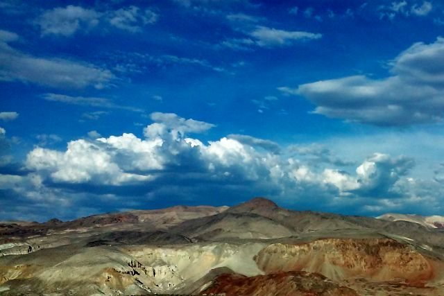 Colorful hills near Haiwee Reservoir, Sierra Eastside
