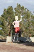 Rock Climbing Photo: Uniroyal Gal (aka Hubcap Lady), Sierra Eastside