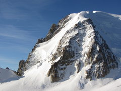 Rock Climbing Photo: Triangle du Tacul as seen from Aiguille du Midi. T...