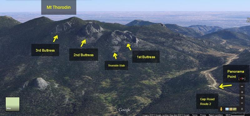 Rock Climbing Photo: Mt. Thorodin via Google Earth.