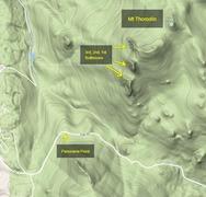 Rock Climbing Photo: Mt. Thorodin contour terrain map.