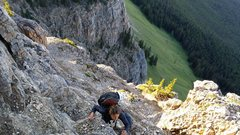 Rock Climbing Photo: The top of the scrambling section of the Rockbound...