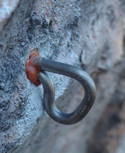 The Eterna titanium bolt from Titan Climbing.