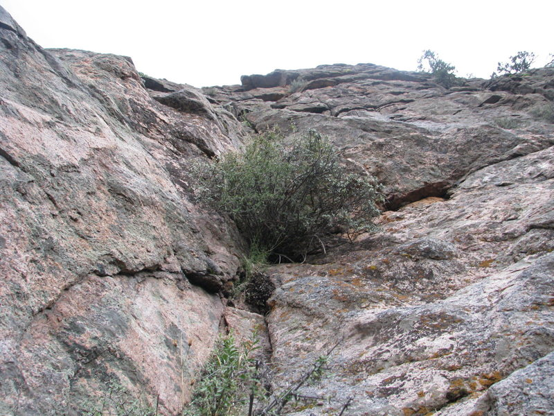 Rock Climbing Photo: The upper section.