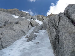 Rock Climbing Photo: the upper ice pitch can be avoided by crossing the...
