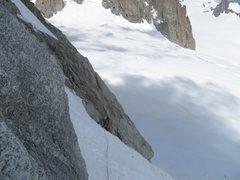 Rock Climbing Photo: climbing above the bergschrund