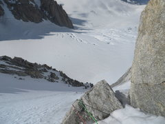 Rock Climbing Photo: upper snow slopes of the North Face
