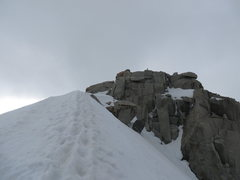 Rock Climbing Photo: Final steps to the summit from the SE ridge