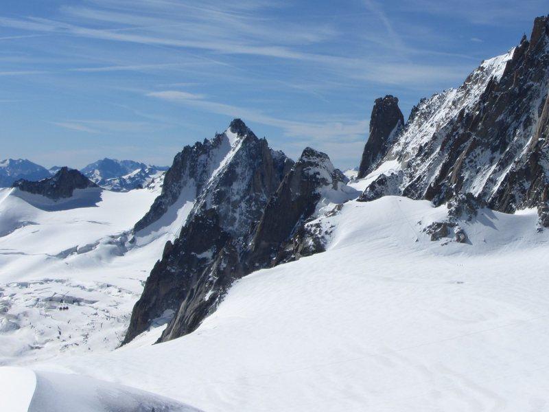 Rock Climbing Photo: Tour Ronde N face as seen from Aiguille du Midi (w...