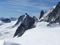 Rock Climbing Photo: Tour Ronde N face as seen from Aiguille du Midi (w...