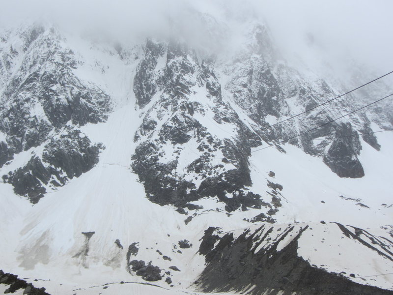 the lower half of the route in wintry conditions, June 2013