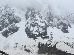 Rock Climbing Photo: the lower half of the route in wintry conditions, ...
